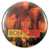 Bon Jovi - 'Group Faces' Button Badge
